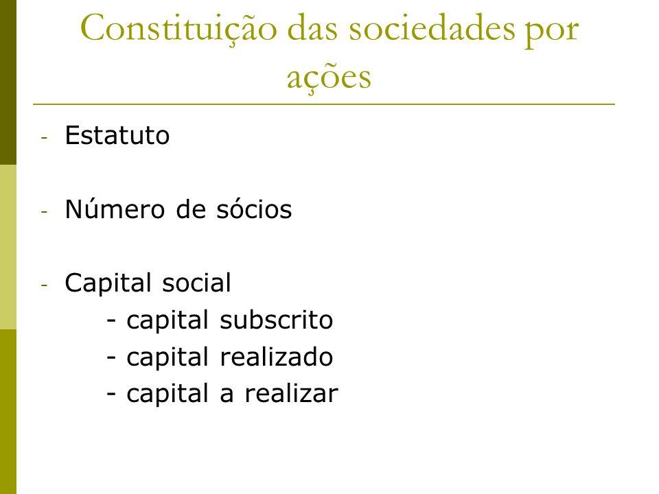 Formas de Integralização do Capital Social (art.