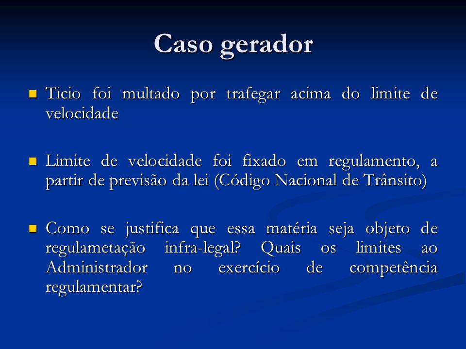 Caso gerador Ticio foi multado por trafegar acima do limite de velocidade Ticio foi multado por trafegar acima do limite de velocidade Limite de veloc