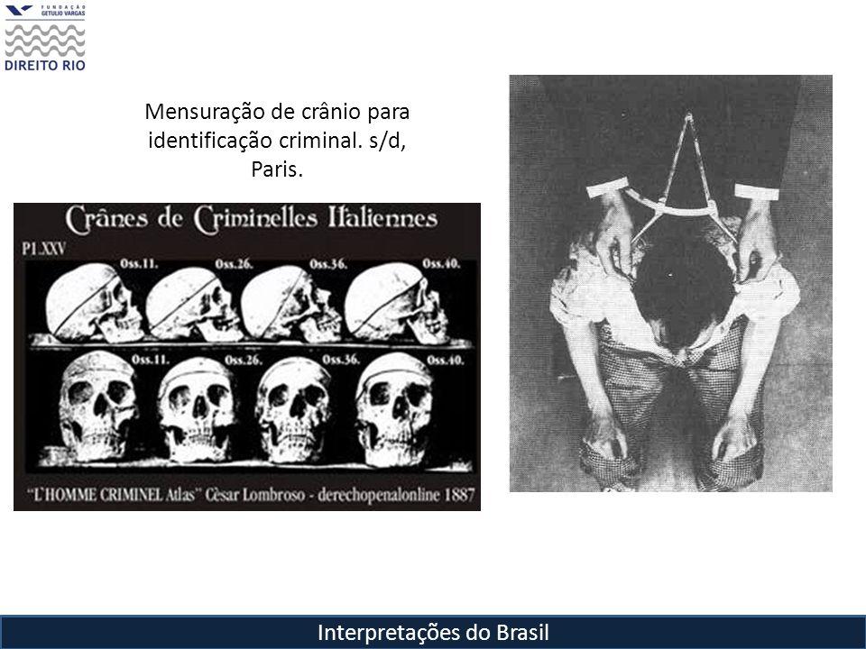 Interpretações do Brasil Mensuração de crânio para identificação criminal. s/d, Paris.
