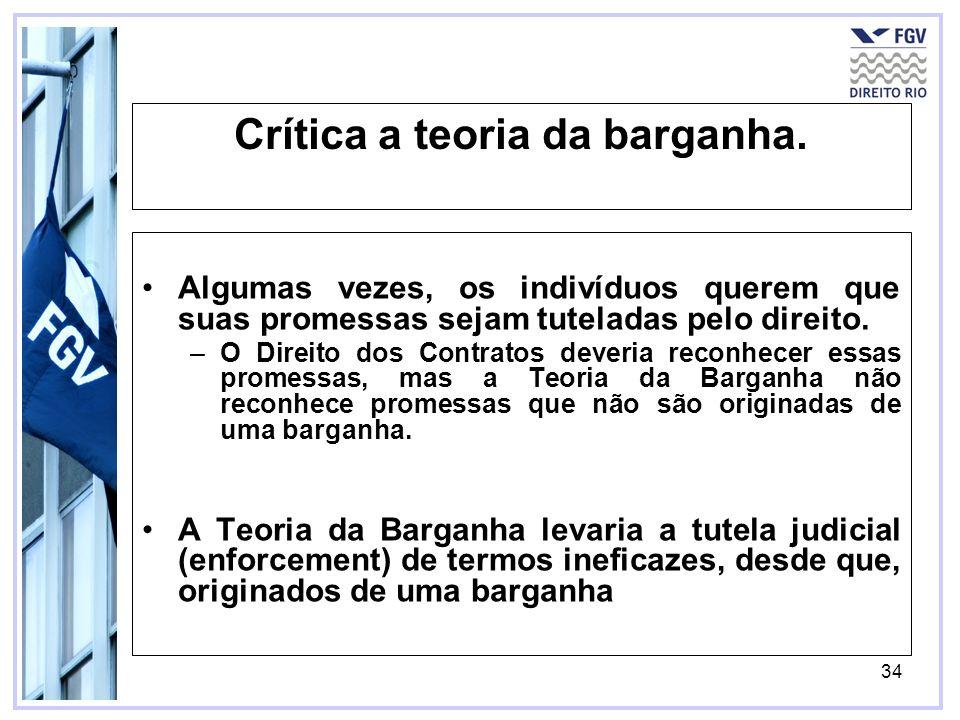 34 Crítica a teoria da barganha.