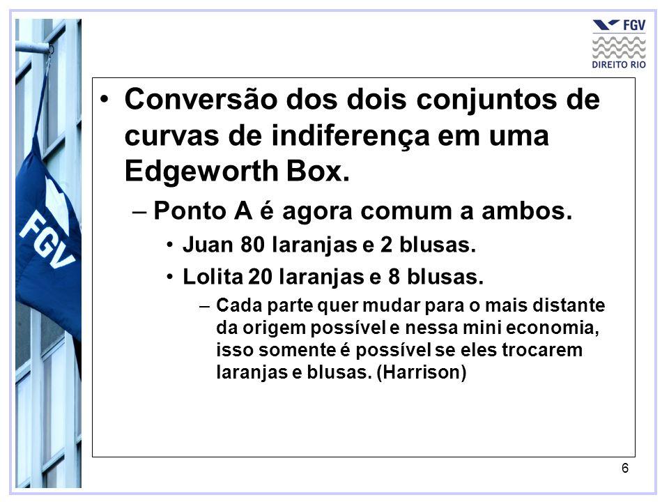6 Conversão dos dois conjuntos de curvas de indiferença em uma Edgeworth Box.