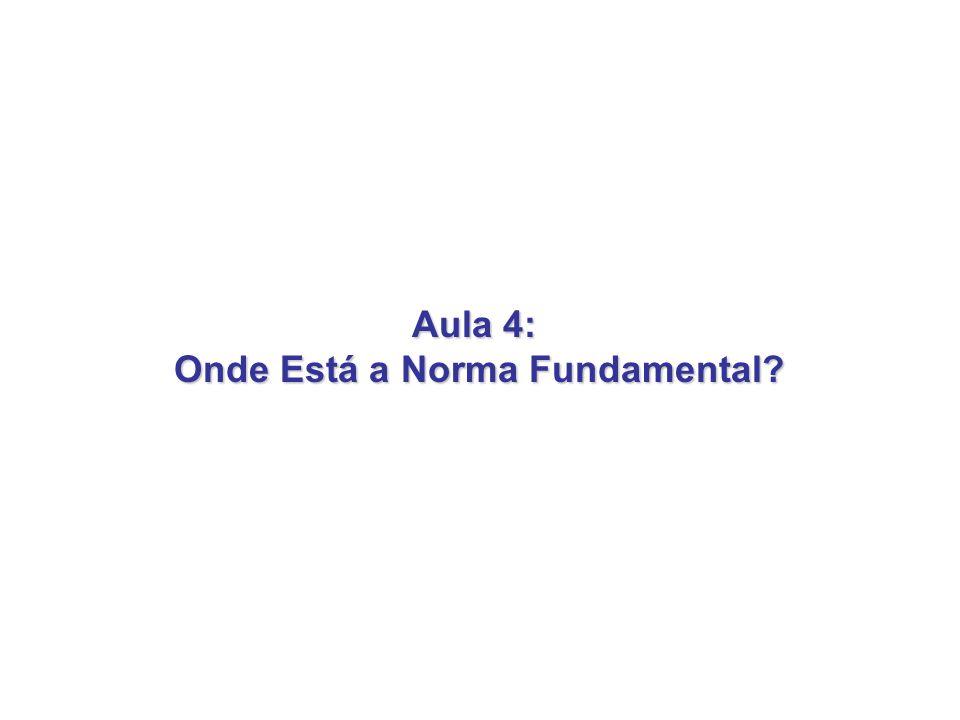 Aula 4: Onde Está a Norma Fundamental? Onde Está a Norma Fundamental?