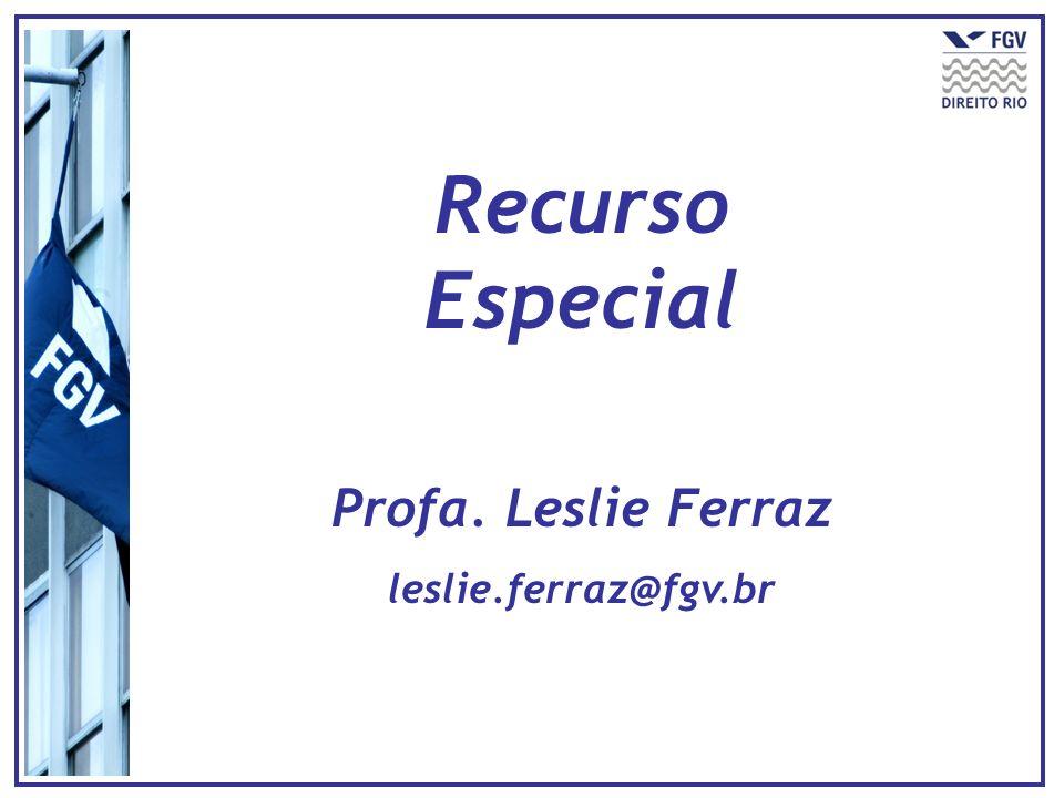 Recurso Especial Profa. Leslie Ferraz leslie.ferraz@fgv.br