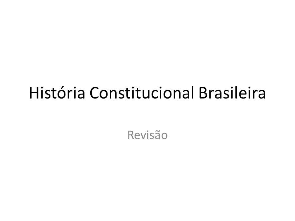 História Constitucional Brasileira Revisão
