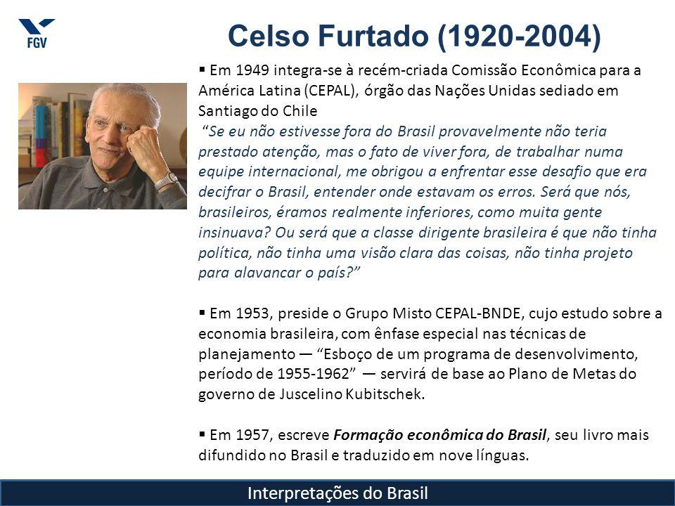 Celso Furtado (1920-2004) Em 1961, encontra o presidente John Kennedy e decide apoiar um programa de cooperação com a SUDENE.