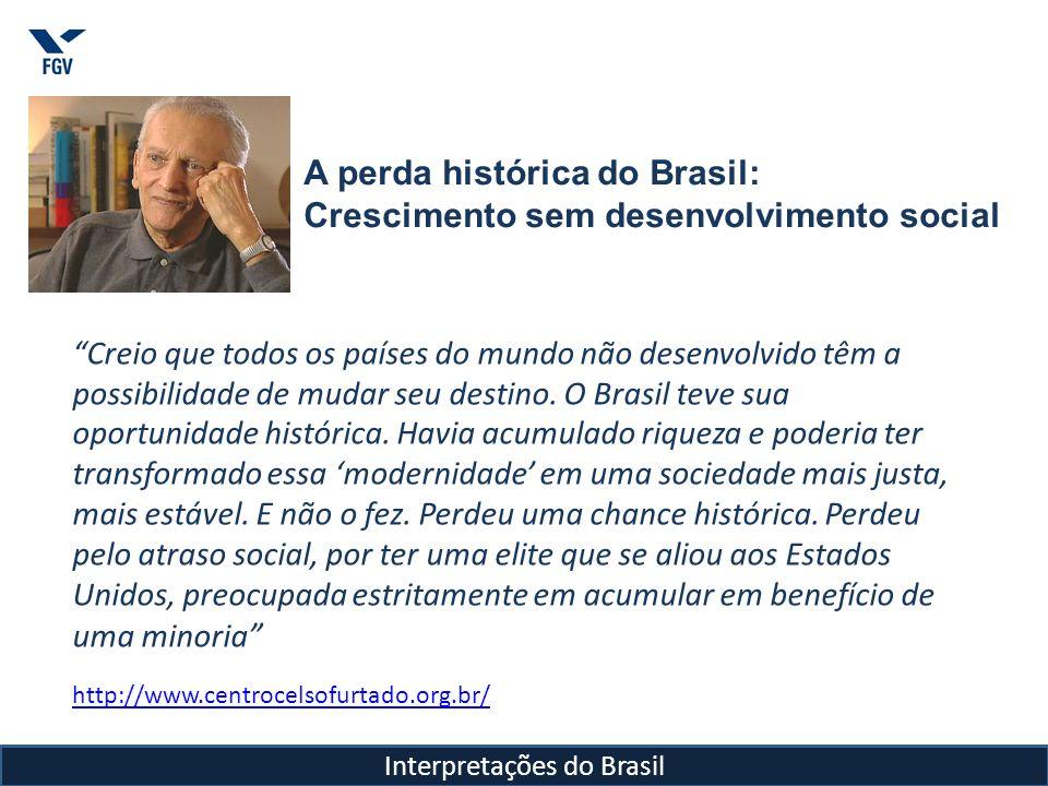 Celso Furtado por Ricúpero Interpretações do Brasil Mas o mais importante é que, a partir de sua situação profissional, Celso Furtado contribuiu, como poucos, para mudar a postura em relação ao Estado no Brasil.