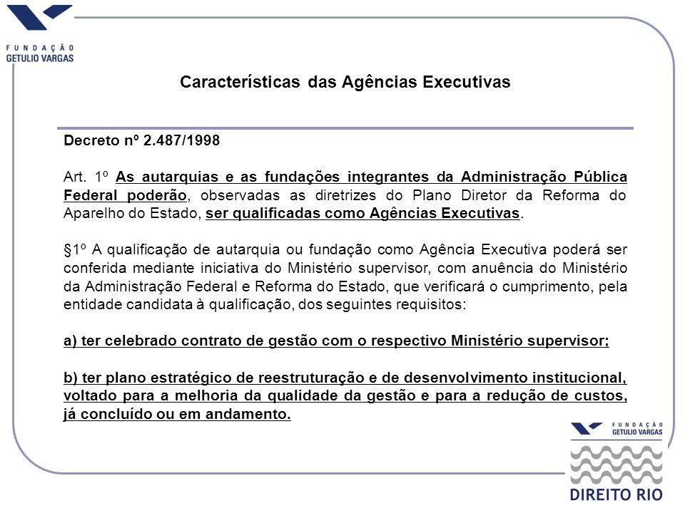 Decreto nº 2.487/1998 Art. 1º As autarquias e as fundações integrantes da Administração Pública Federal poderão, observadas as diretrizes do Plano Dir
