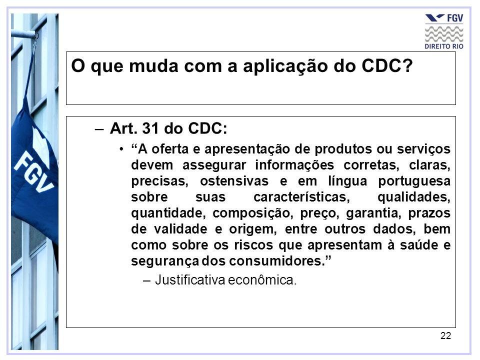23 O que mais muda com a aplicação do CDC?