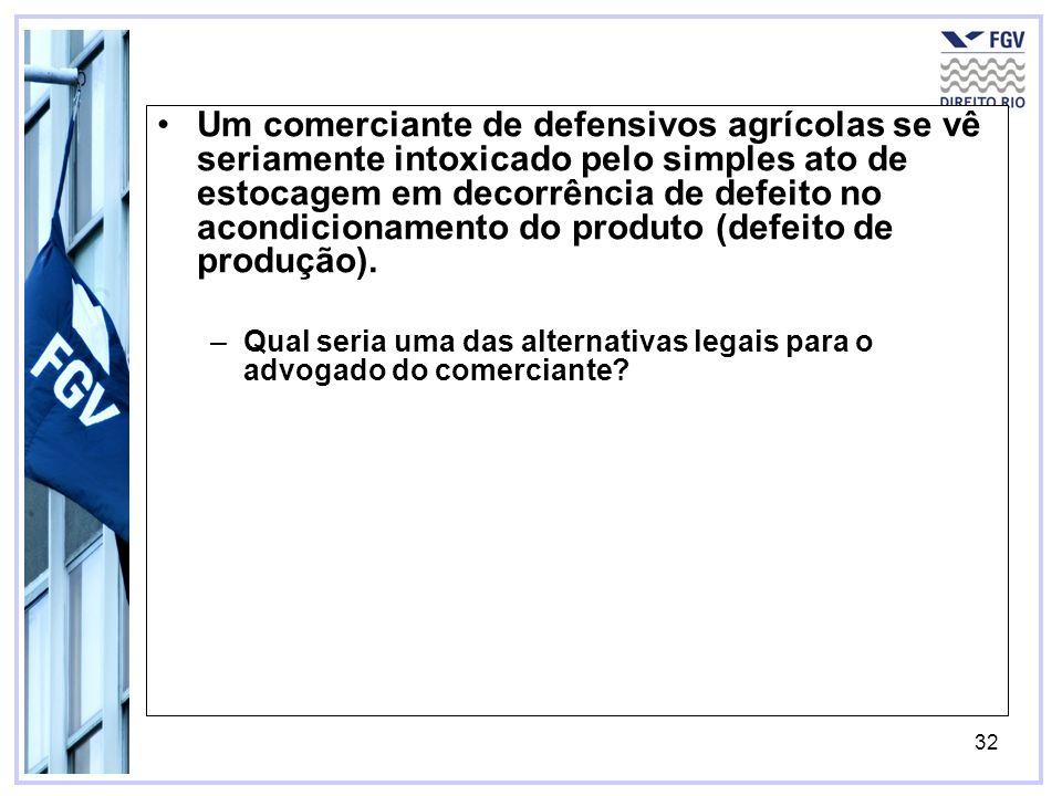 33 Neste caso, embora o comerciante não seja consumidor stricto sensu, poderá se socorrer da proteção consumerista.