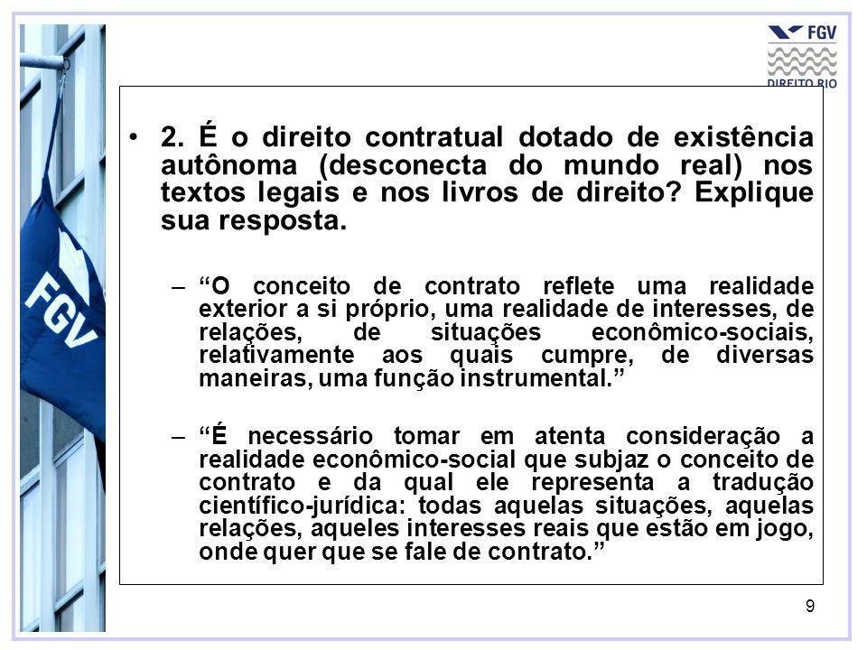 10 Não cooperação Excedente Com cooperação JoãoMariaJoãoMaria Norma Jurídica 1 – Direito do poluidor 100020001000200 Norma Jurídica 2 – Indenização (perdas e danos) 800300100850350 Norma Jurídica 3 – Cessação da interferência 500300400700500 3.1 - Sob a conjectura mais pessimista, em que João e Maria não cooperaram (alto custo de transação), apenas uma das normas legais terá resultado eficiente, qual delas.