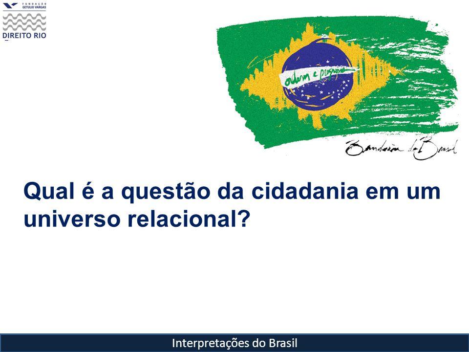 Interpretações do Brasil O que é a cidadania.E como ela é vivenciada no Brasil.
