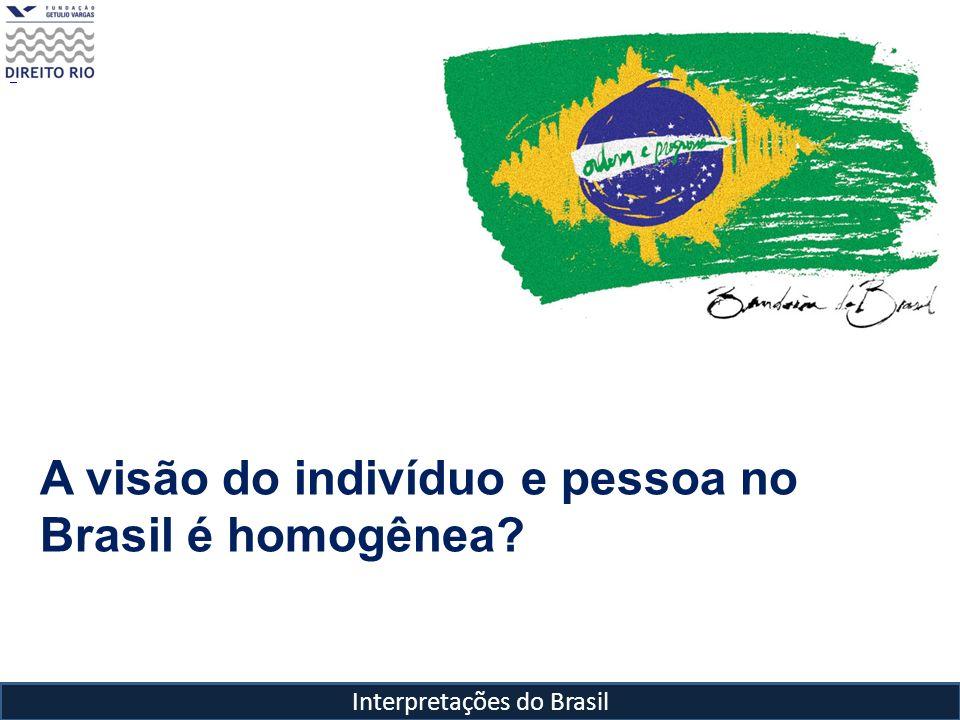 Interpretações do Brasil A visão do indivíduo e pessoa no Brasil é homogênea?