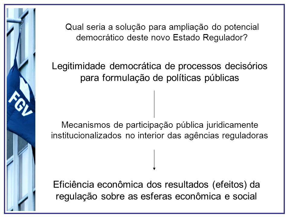 Legitimidade democrática de processos decisórios para formulação de políticas públicas Mecanismos de participação pública juridicamente institucionali