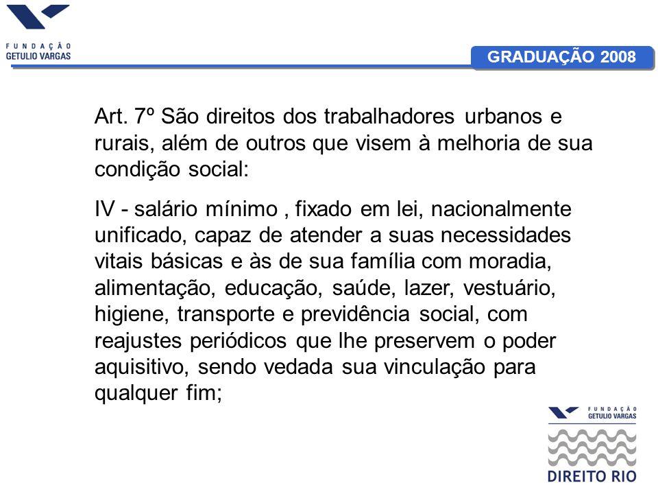 GRADUAÇÃO 2008 Art.