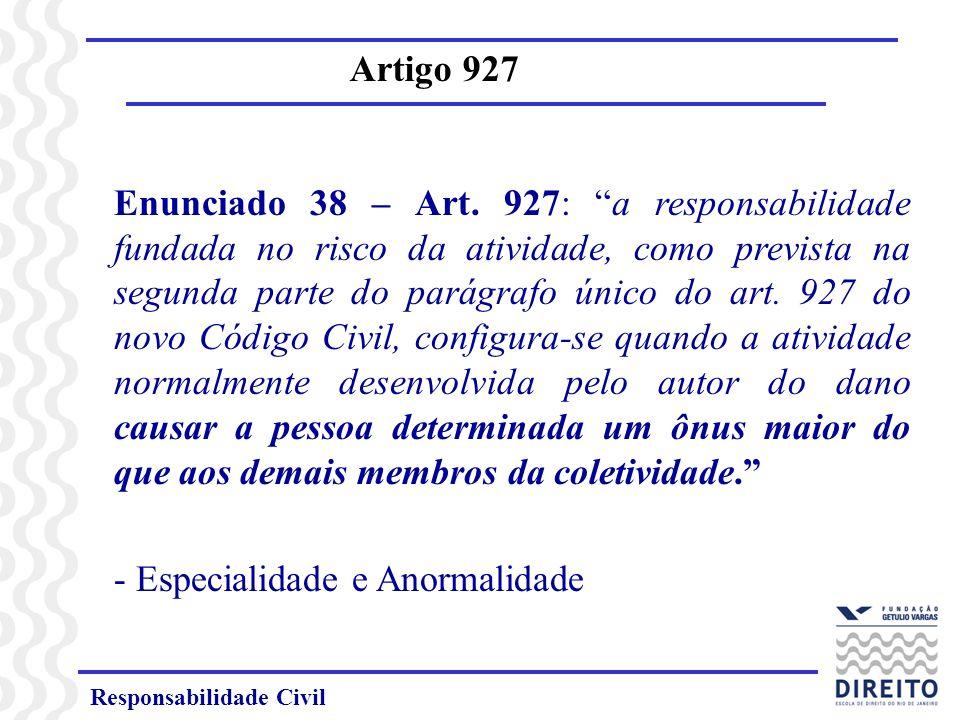 Responsabilidade Civil Artigo 927 Questão: Poderia o artigo 927 ser utilizado como base para o dever de indenizar um empregado em caso de acidente de trabalho se sua atividade for considerada de risco .