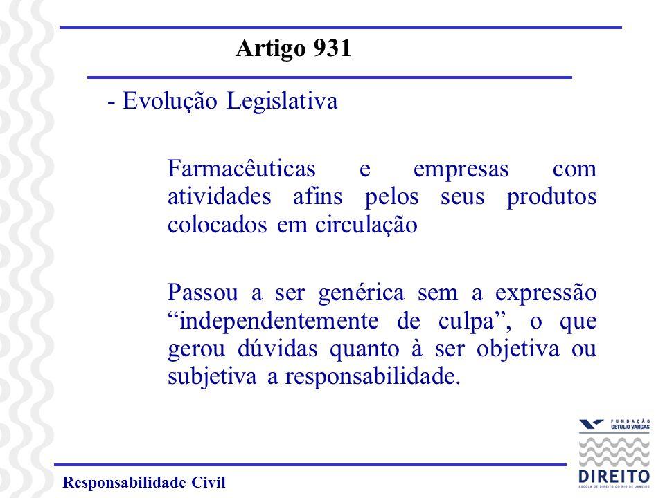 Responsabilidade Civil Artigo 931 Art.931.