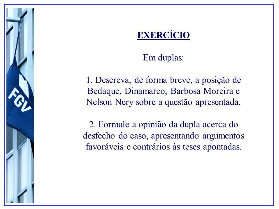 EXERCÍCIO Em duplas: 1.