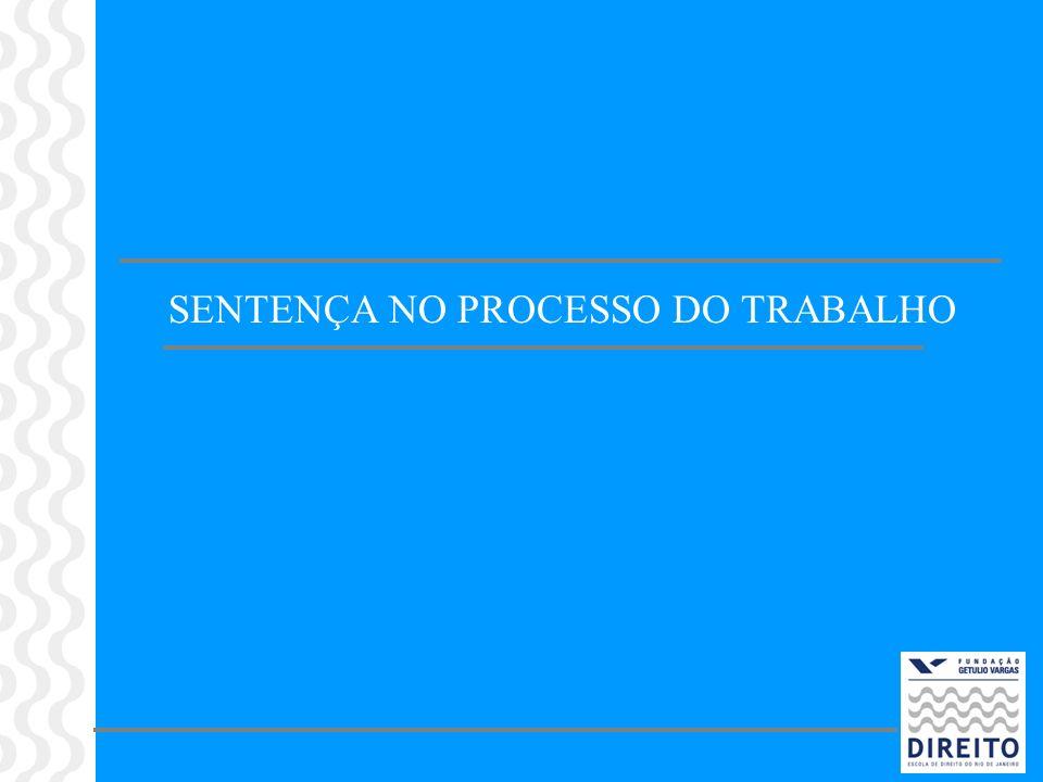 SENTENÇA NO PROCESSO DO TRABALHO