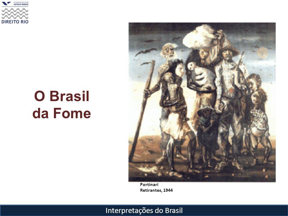Interpretações do Brasil O Brasil da Fome Portinari Retirantes, 1944