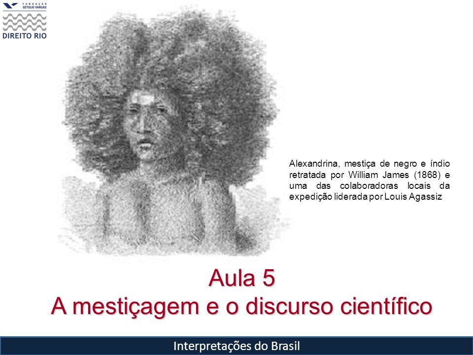 Interpretações do Brasil Aula 5 A mestiçagem e o discurso científico Alexandrina, mestiça de negro e índio retratada por William James (1868) e uma da