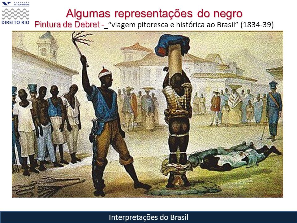 Interpretações do Brasil Algumas representações do negro Pintura de Debret - Pintura de Debret - _viagem pitoresca e histórica ao Brasil (1834-39)