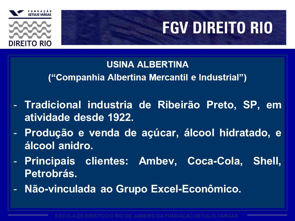 ESCOLA DE DIREITO DO RIO DE JANEIRO DA FUNDAÇÃO GETULIO VARGAS USINA ALBERTINA (Companhia Albertina Mercantil e Industrial) -Tradicional industria de