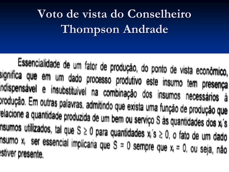 Voto de vista do Conselheiro Thompson Andrade