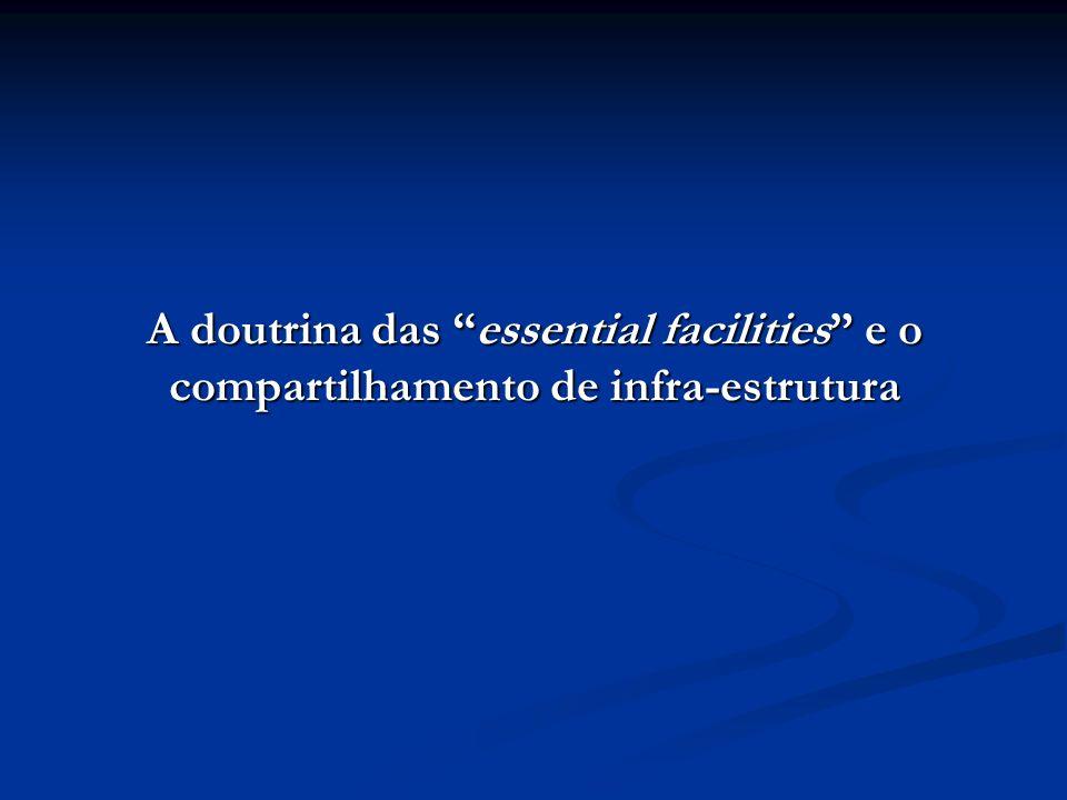 A doutrina das essential facilities e o compartilhamento de infra-estrutura