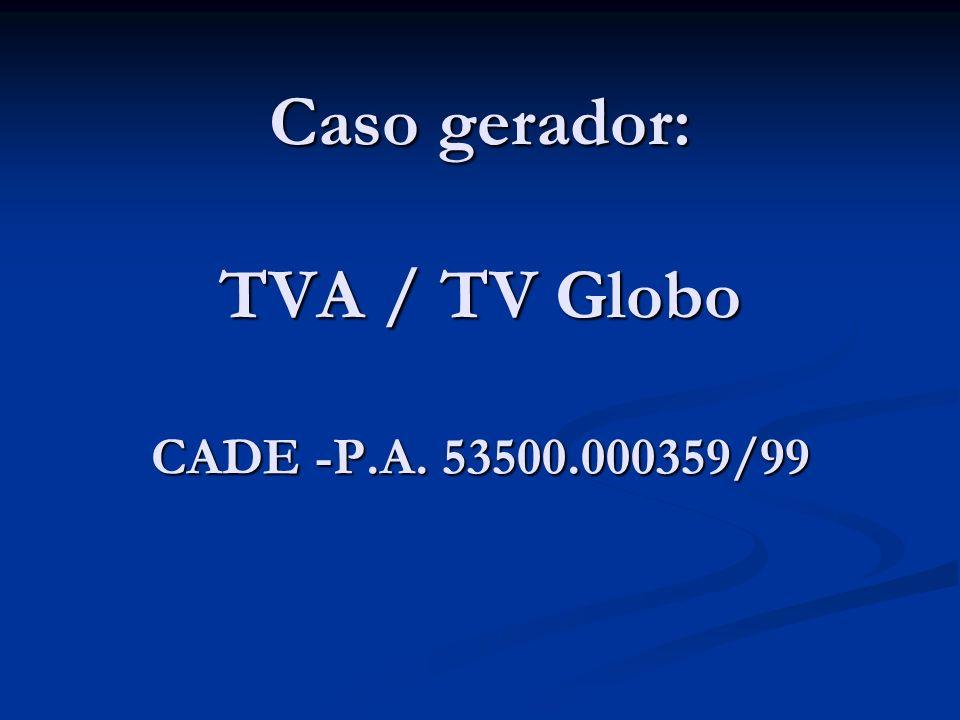 Caso gerador: TVA / TV Globo CADE -P.A. 53500.000359/99