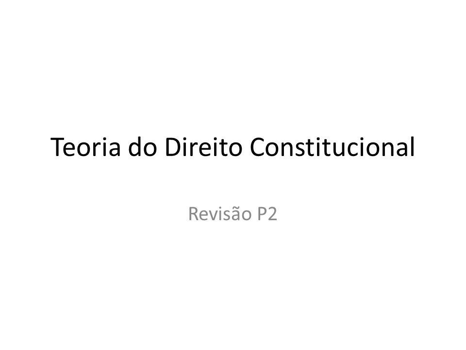 Teoria do Direito Constitucional Revisão P2