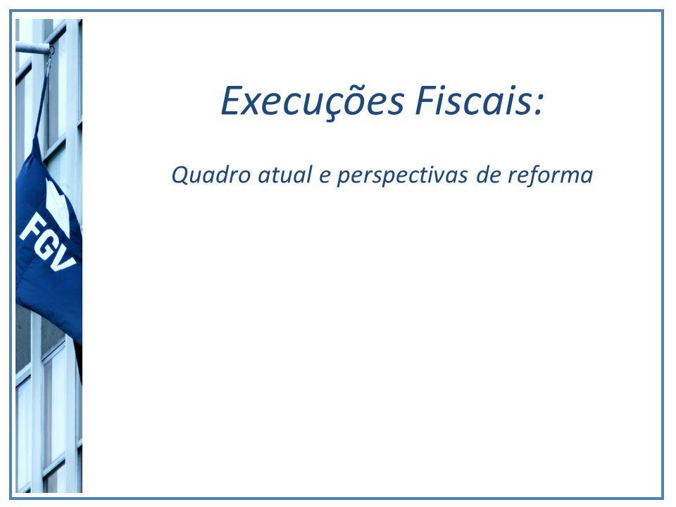Execuções Fiscais: Quadro atual e perspectivas de reforma