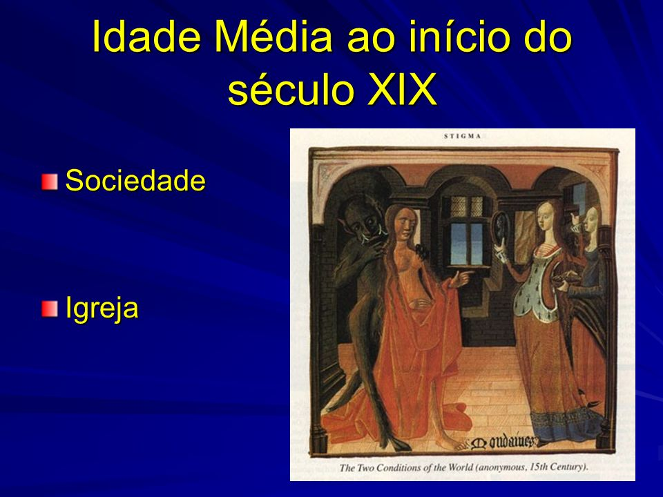 Idade Média ao início do século XIX SociedadeIgreja