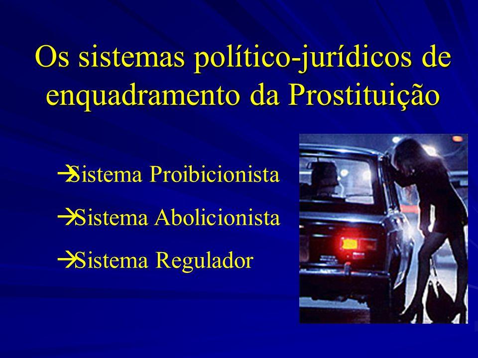 Os sistemas político-jurídicos de enquadramento da Prostituição Sistema Proibicionista Sistema Abolicionista Sistema Regulador