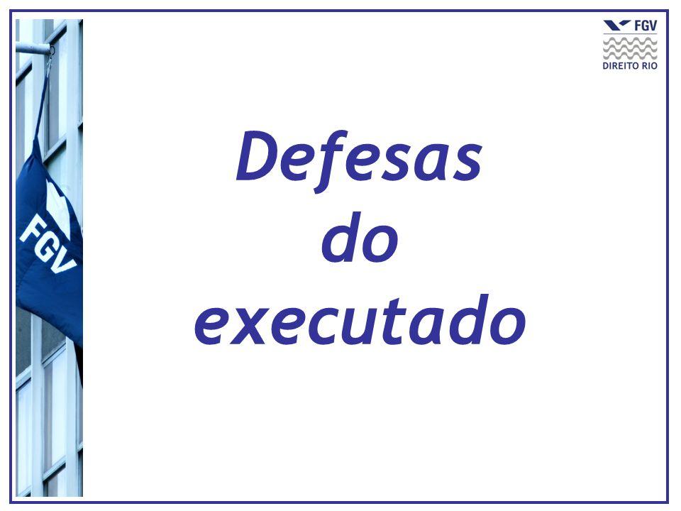 Defesas do executado