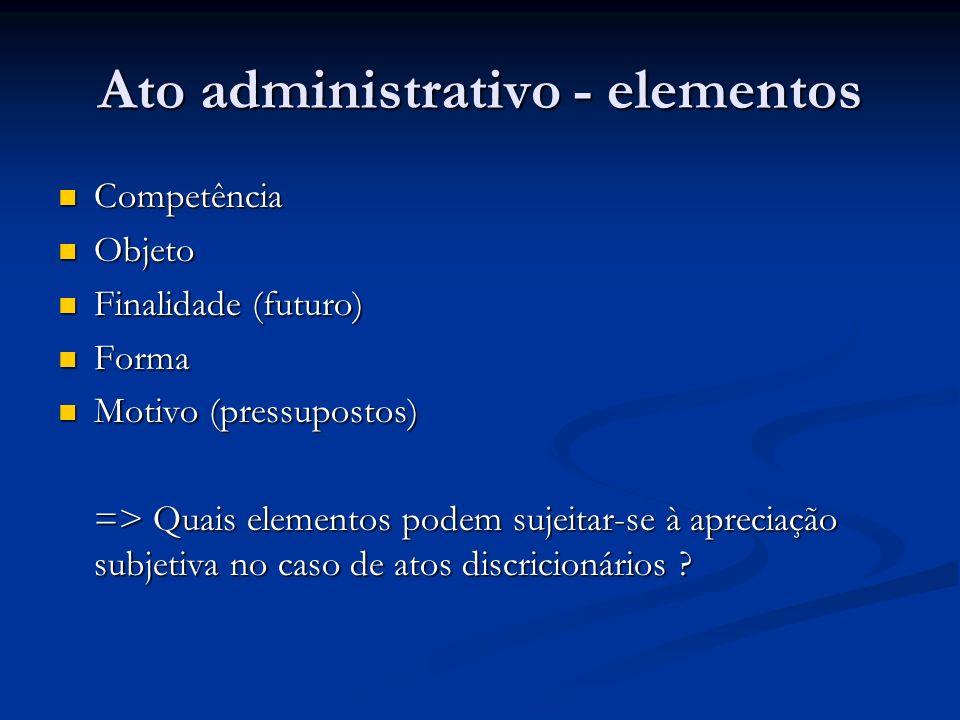Atos administrativos - elementos Competência Competência Delegação de competência Delegação de competência Decreto-Lei 200/67 Art.