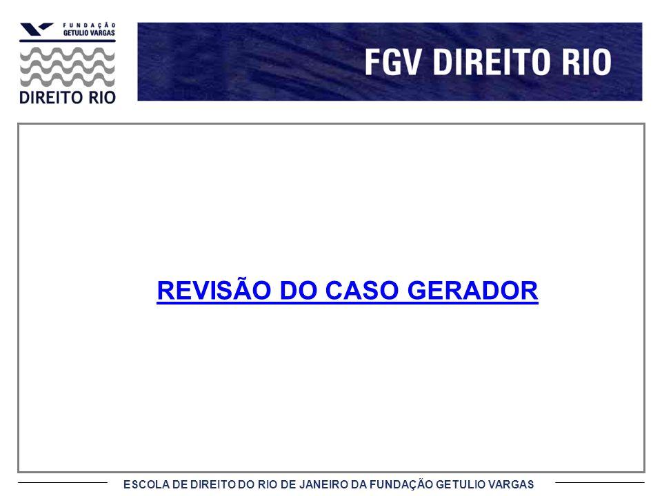 ESCOLA DE DIREITO DO RIO DE JANEIRO DA FUNDAÇÃO GETULIO VARGAS REVISÃO DO CASO GERADOR