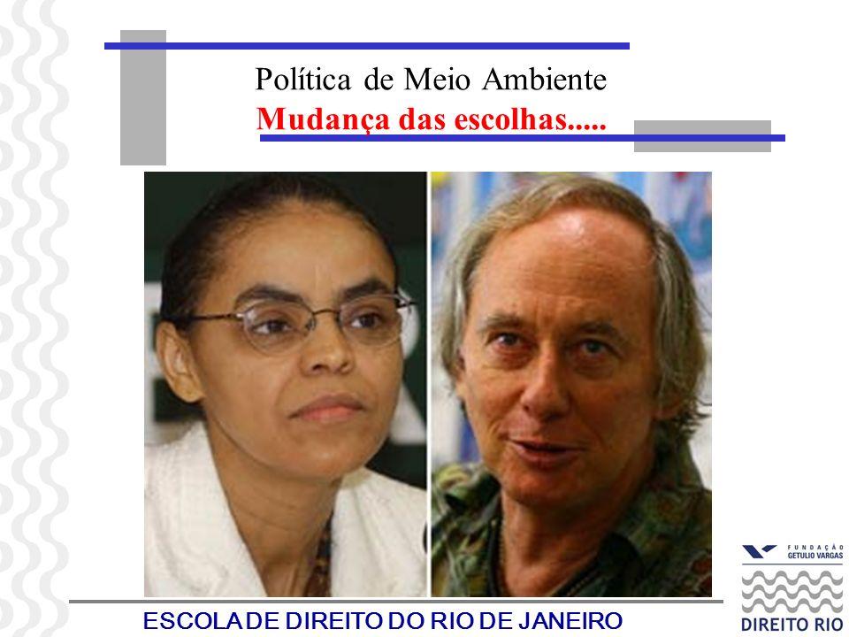 ESCOLA DE DIREITO DO RIO DE JANEIRO Política de Meio Ambiente Mudança das escolhas.....