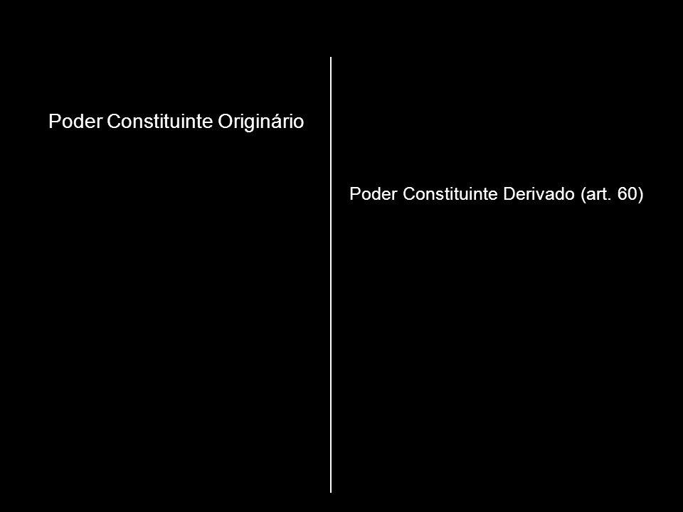 Poder Constituinte Originário Poder Constituinte Derivado (art. 60)