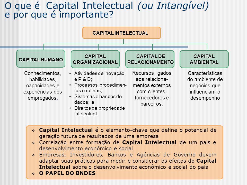 O que é Capital Intelectual (ou Intangível) e por que é importante? Capital Intelectual é o elemento-chave que define o potencial de geração futura de