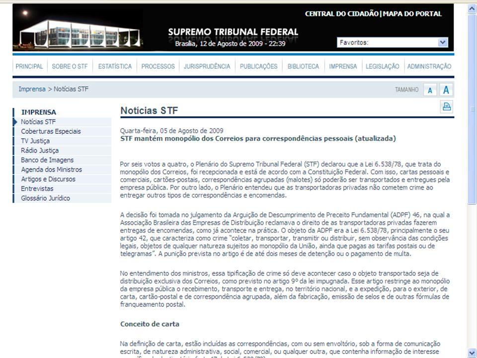 ADPF 46 - STF ARGÜIÇÃO DE DESCUMPRIMENTO DE PRECEITO FUNDAMENTAL.