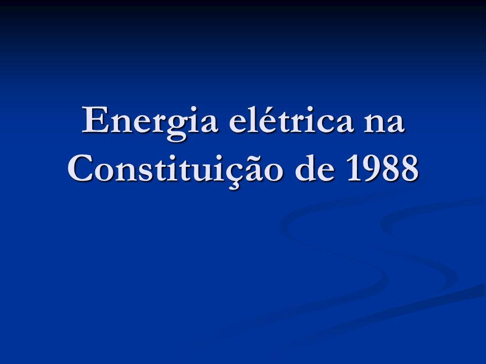 Energia elétrica na Constituição de 1988