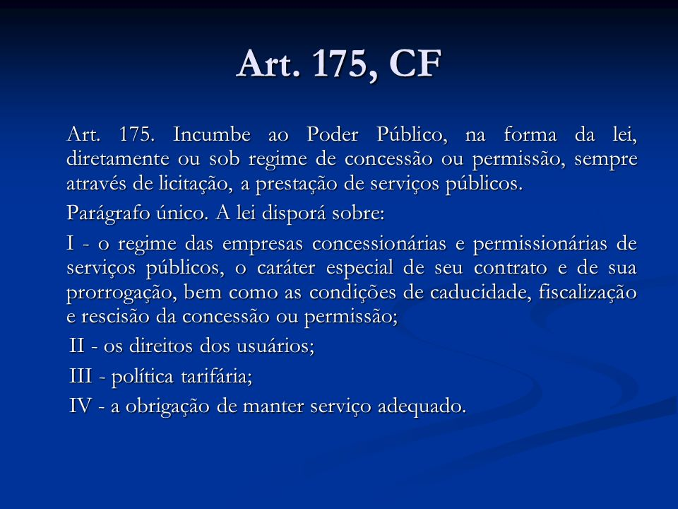 Art.175, CF Art. 175.