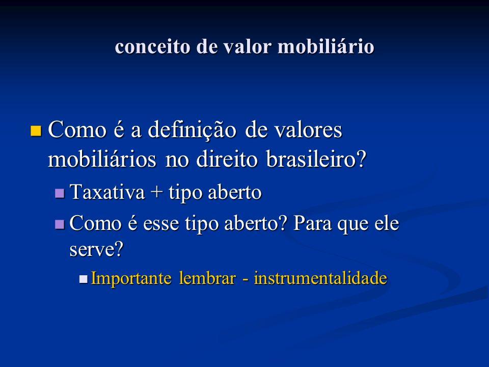 conceito de valor mobiliário Como é a definição de valores mobiliários no direito brasileiro? Como é a definição de valores mobiliários no direito bra