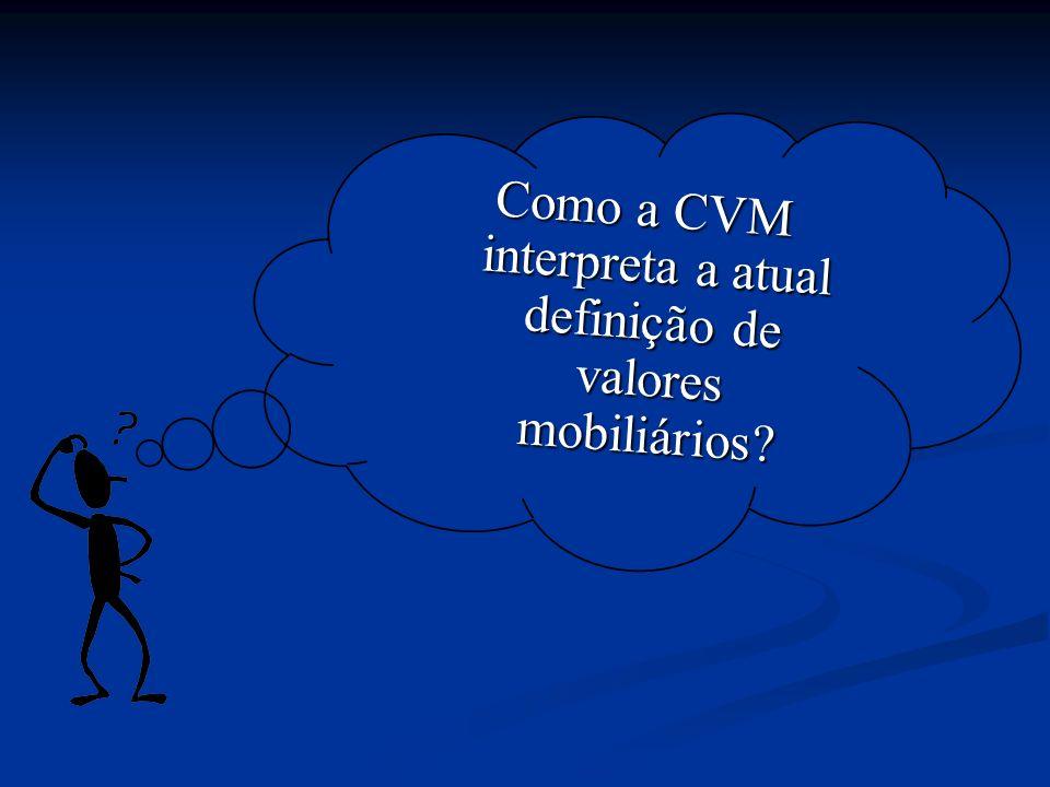 conceito de valor mobiliário Processo CVM nº RJ2007/11.593 Processo CVM nº RJ2007/11.593 Quais são os fatos.