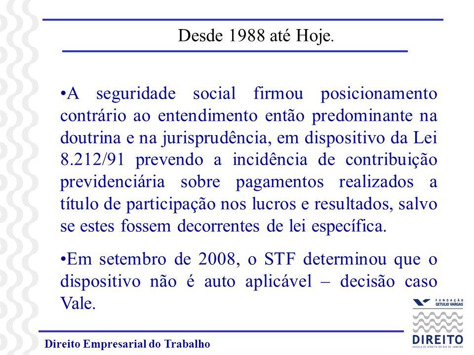 Direito Empresarial do Trabalho Desde 1988 até Hoje.