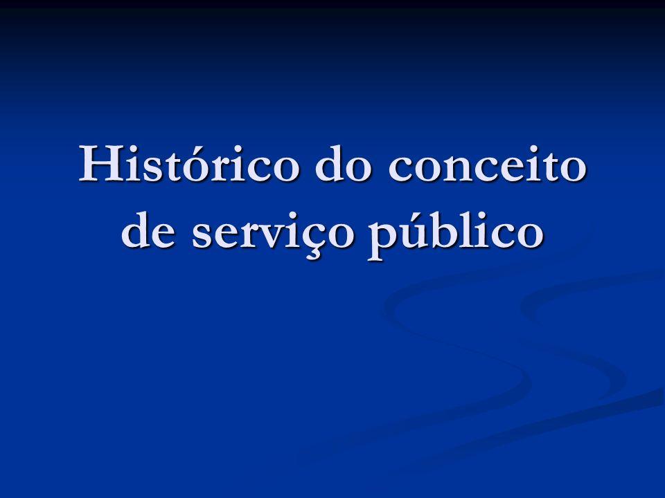 Histórico do conceito de serviço público