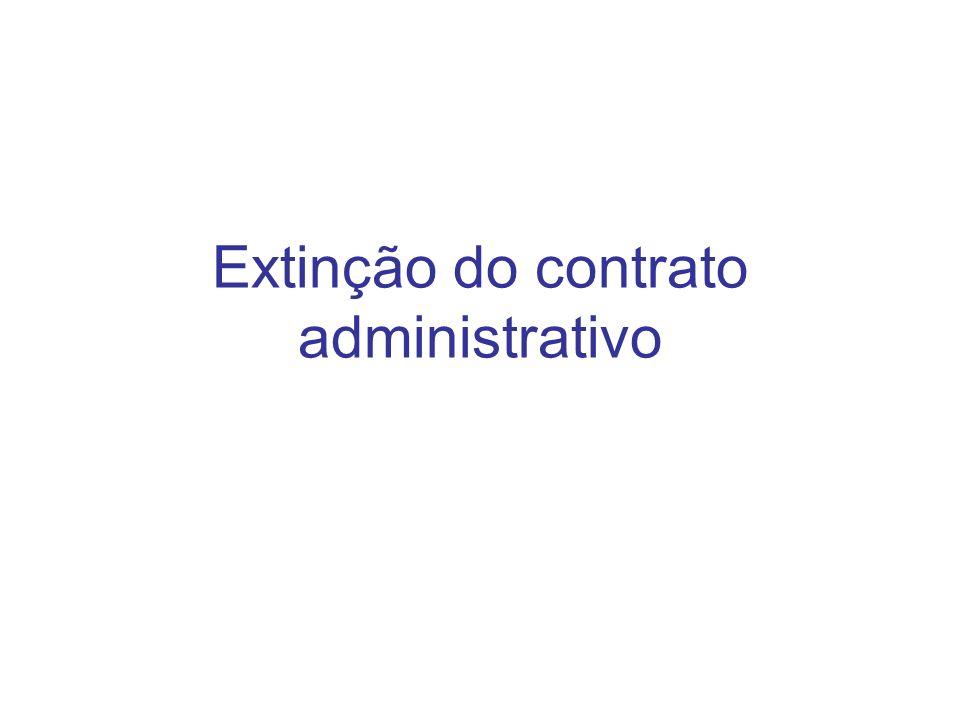 Extinção do contrato administrativo