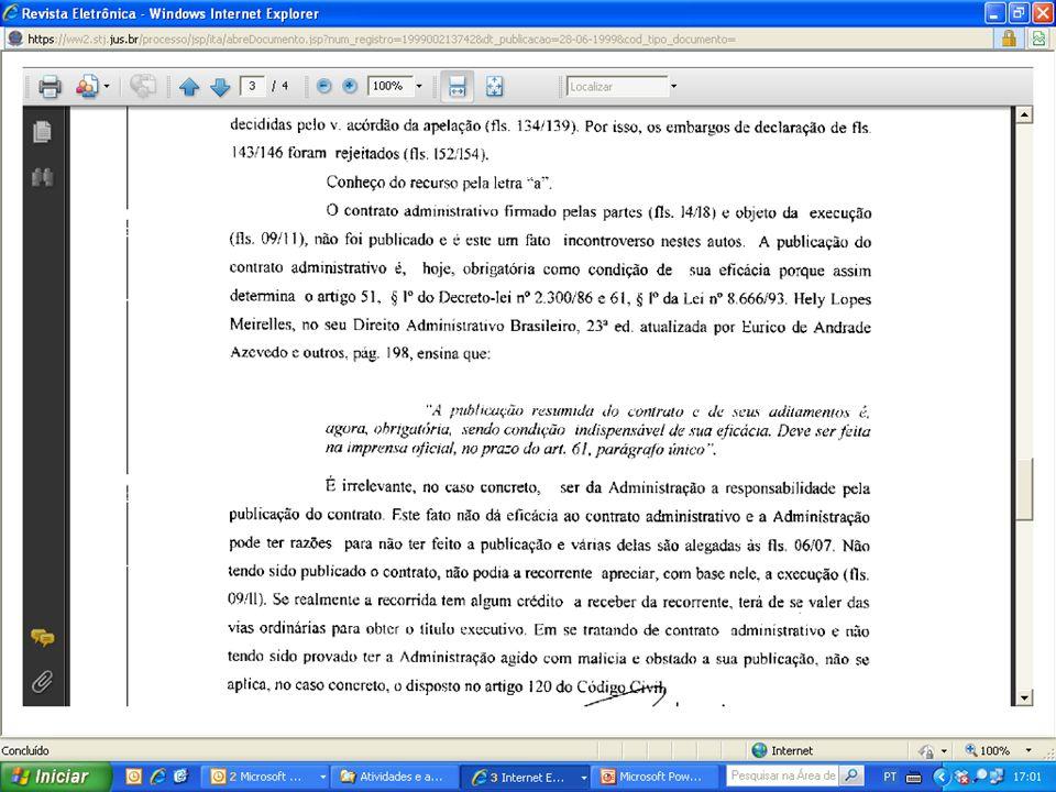Rescisão do contrato administrativo pela AdministraçãoRescisão do contrato administrativo pela Administração –Inadimplemento administrado => art.