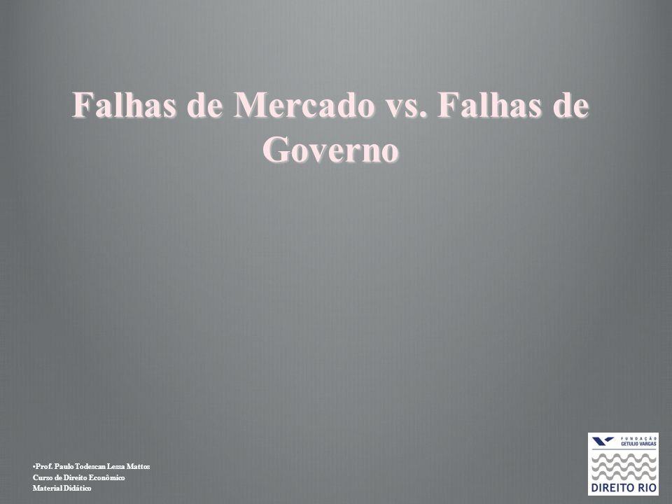 Prof. Paulo Todescan Lessa Mattos Curso de Direito Econômico Material Didático Falhas de Mercado vs. Falhas de Governo