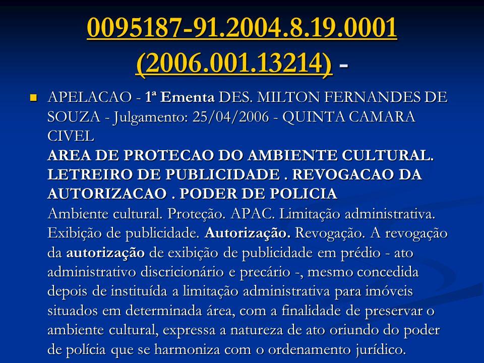 0095187-91.2004.8.19.0001 (2006.001.13214)0095187-91.2004.8.19.0001 (2006.001.13214) - 0095187-91.2004.8.19.0001 (2006.001.13214) APELACAO - 1ª Ementa